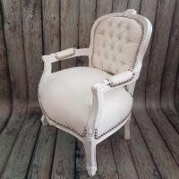 Детско бароково кресло в бяло