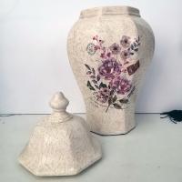 """Керамична ваза с капак """"Винтидж"""""""