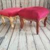 Табуретка барок червено и златно