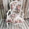 "Бяло кресло ""Английски рози"""