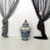 """Ръчно рисувана ваза с капак """"Блу Делфт"""""""